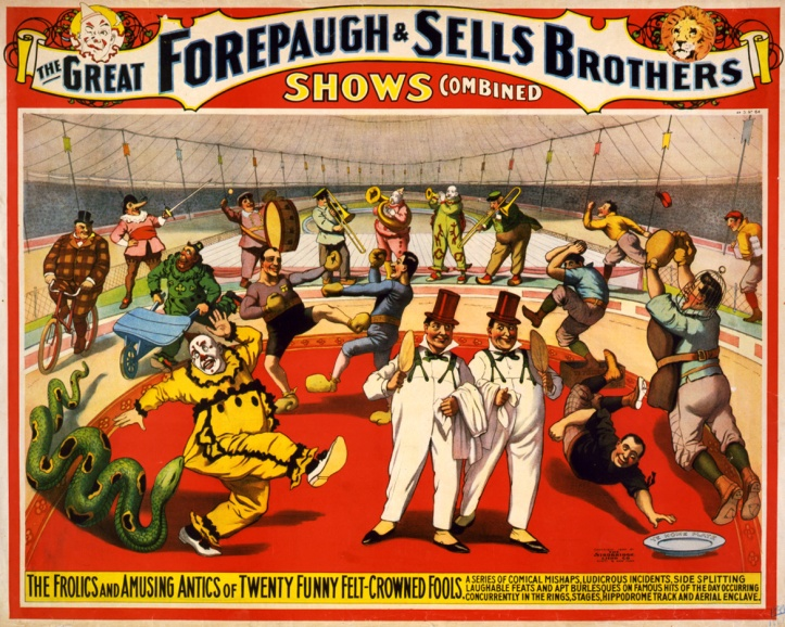 Twenty_funny_felt-crowned_fools,_poster_for_Forepaugh_&_Sells_Brothers,_1899