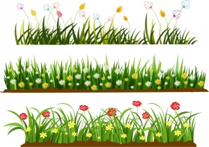 wild_grass_flowers_templates_colorful_cartoon_design_6829073