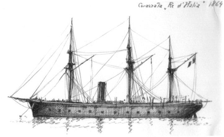 1864 - Corazzata ' Re d'Italia '