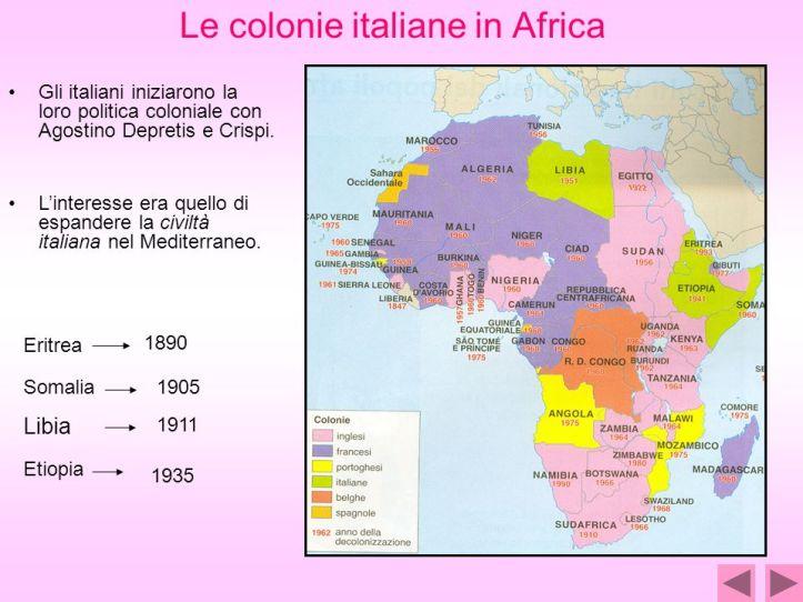 Le+colonie+italiane+in+Africa