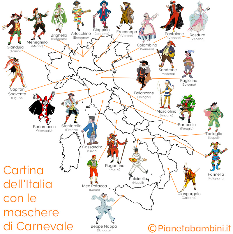 Cartina-Italia-Maschere-Carnevale