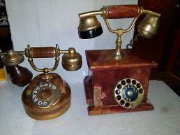 2-Telefoni-Anni-60-In-Marmo-Per-Ricambi