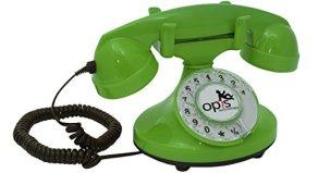 OPIS-FunkyFon-cable-Telefono-con-disco-combinatore-rotante-dalla-linea-sinuosa-degli-anni-20-con-moderno-campanello-elettronico-verde-0