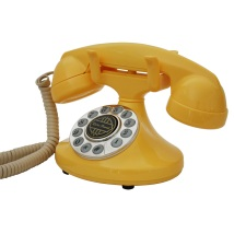 Paramount-1922-antique-vintage-telephone-yellow-corded-phone-fashion